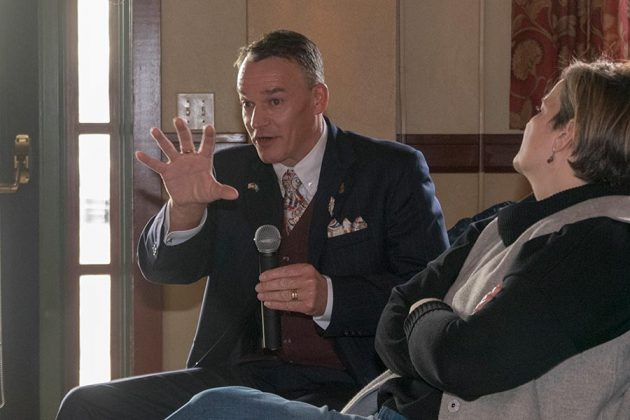 Henric Molin, of Spirit of Hven Distillery, Sweden, asks a question during the question and answer part of one presentation at the Gin Summit.