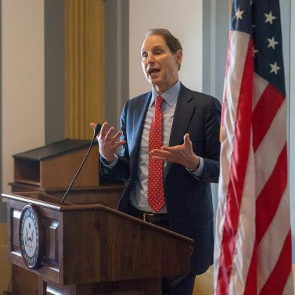 Senator Ron Wyden - one of the authors of the Craft Beverage Modernization and Tax Reform Act of 2017