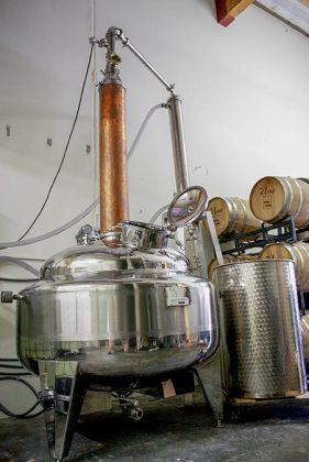 Bain-marie still at Temple Distilling