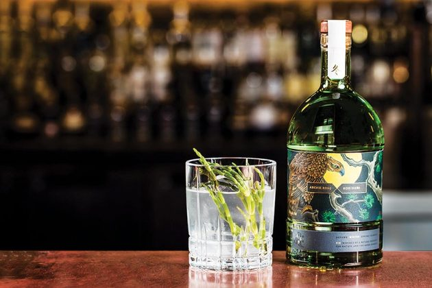 The Archie Rose Distillery, in Sydney, Australia, teamed up with a tattoo artist, Horisumi, to create a Japanese-themed collection of gins and their packaging.