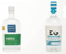 Excellence in Packaging, Best Backbar (left), Best Retail Packaging (right)