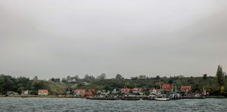 The approach to the Island of Landskrona, Sweden, where the Spirit of Hven Distillery is located.