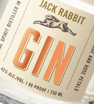 Jack Rabbit Gin label