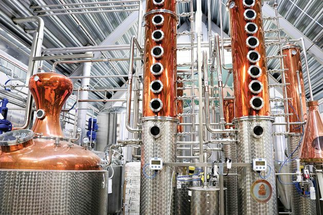 A 3000-liter Northern Fabricators still with 28 plates brings Spirit of Hven Organic Vodka up to 96% ABV legally required in Sweden, instead of the 95% required in the US. Photos courtesy of Spirit of Hven