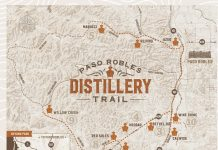 Paso Robles Distillery Trail map