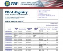 Online Public COLA Registry