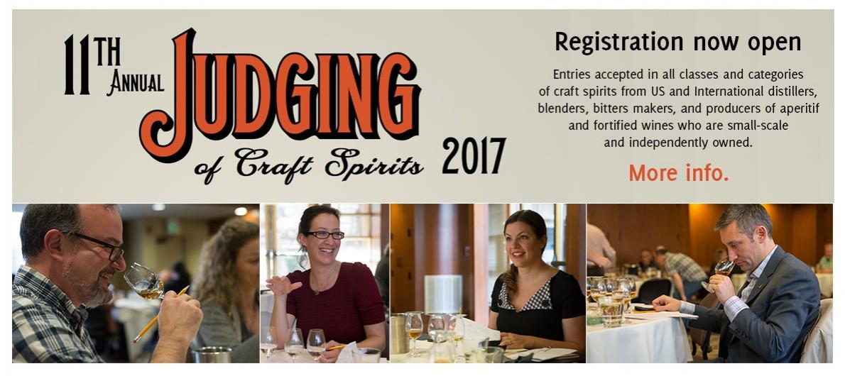 ADI 2017 Judging of Craft Spirits Registration now open