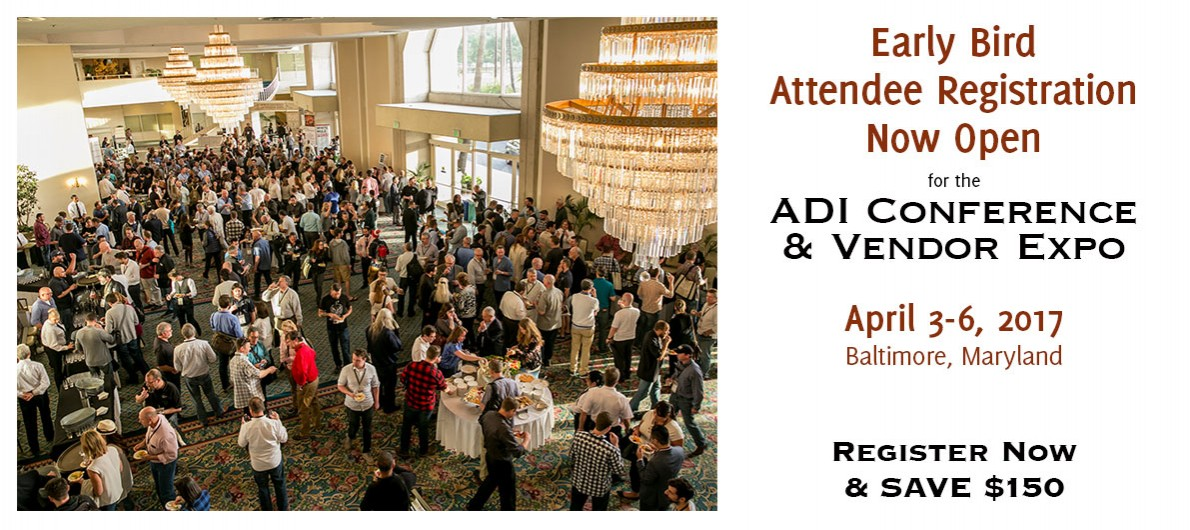 ADI 2017 Conference & Vendor Expo Early Bird Registration