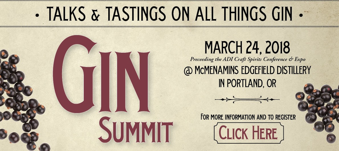 2018 Gin Summit at McMenamins Edgefield on March 24, 2018