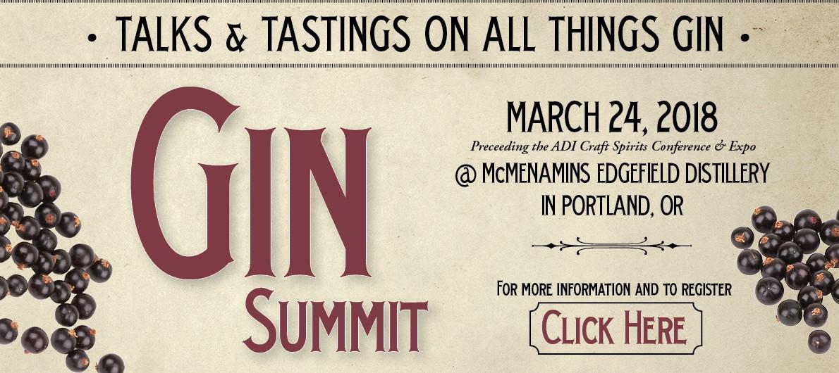 2018 Gin Summit at McMenamins Edgefield on March 24, 2018